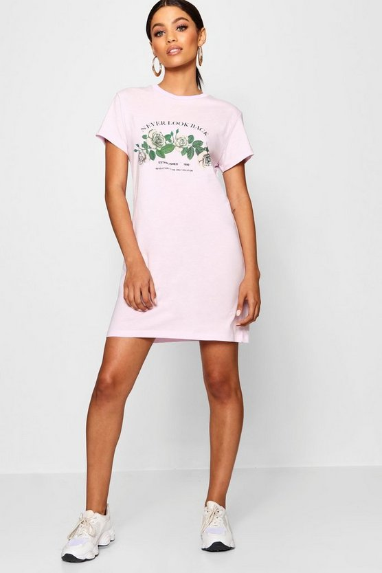 Never Look Back T-Shirt Dress