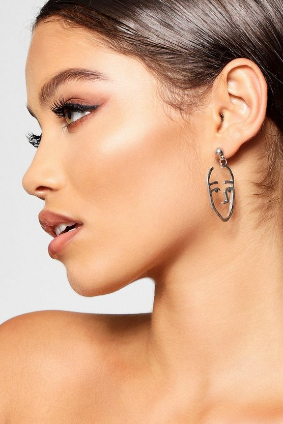 Lucy Face Profile Abstract Earrings