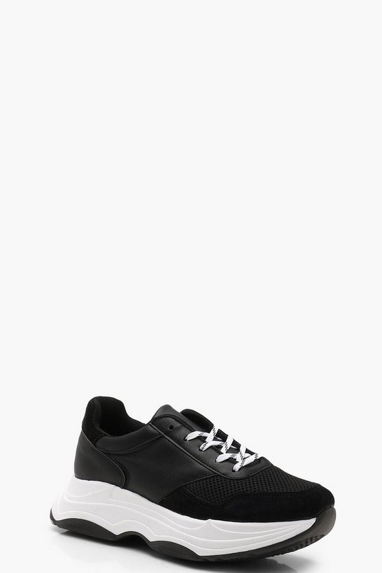 Premium Chunky Suede Trainers