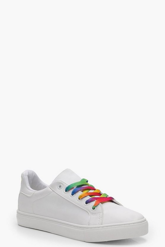 Julia Rainbow Lace Trainer