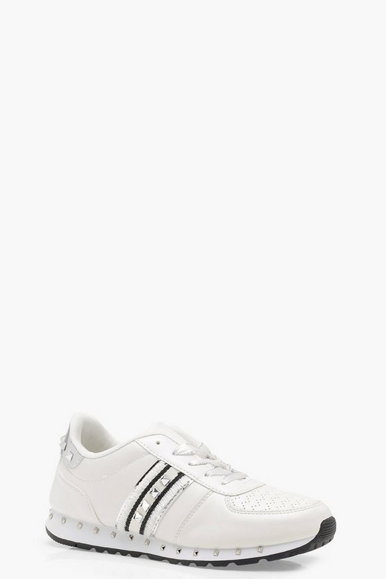 Anna Stud Lace Up Trainers