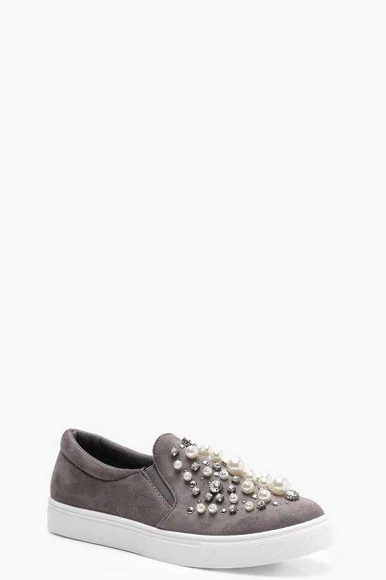 Matilda Pearl and Diamante Trim Skaters
