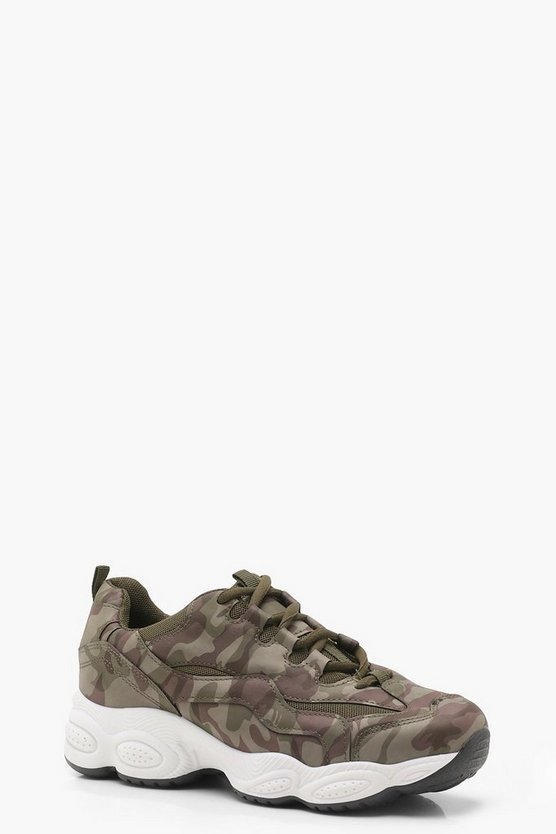 Camo Chunky Sole Trainers
