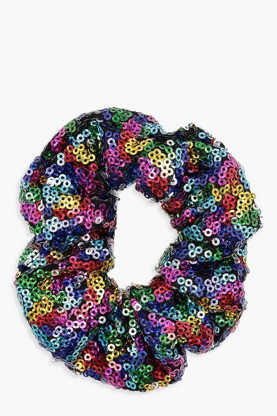 Rachel Rainbow Sequin Scrunchie