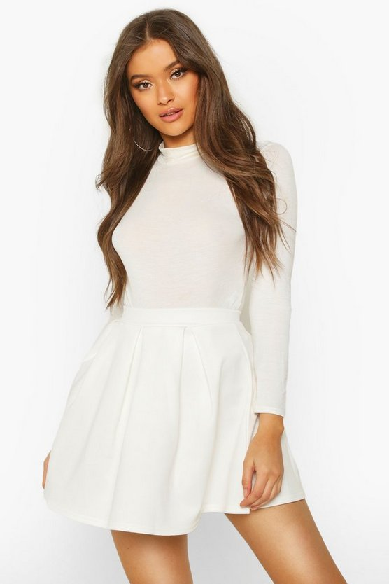 Basic Scuba Mini Skater Skirt