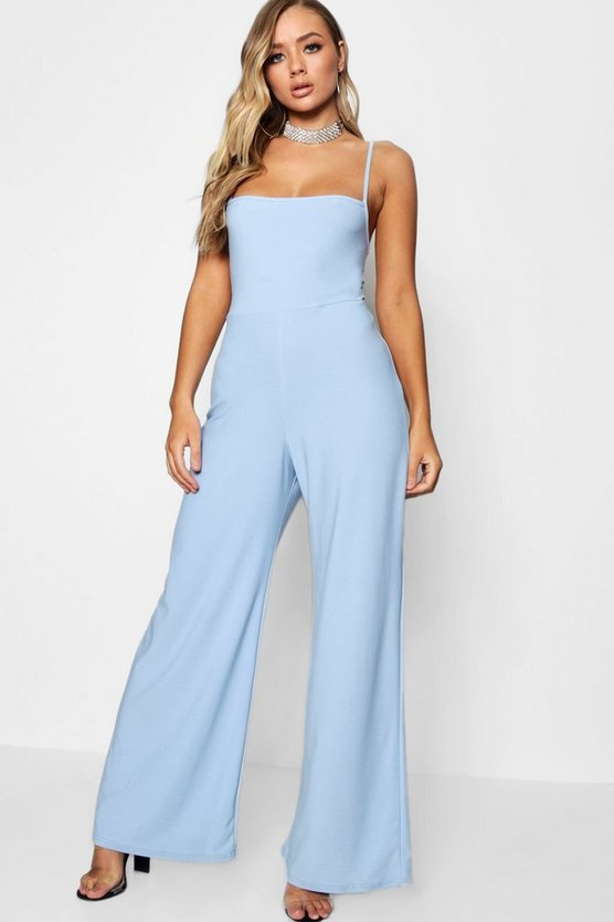 Flora Square Neck Wide Leg Jumpsuit