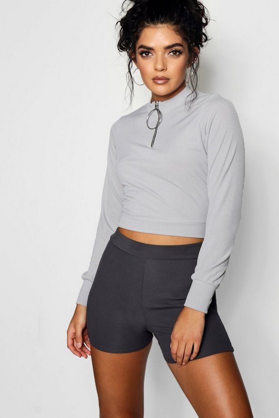 Fredia O Ring Zip High Neck Top