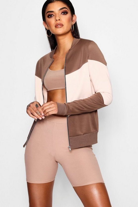 Brooke Colour Block Bomber