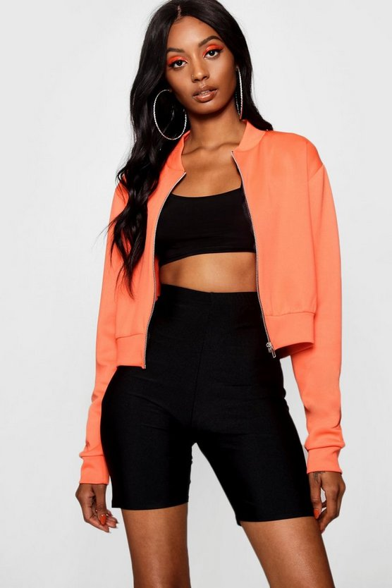 Louisa Crop Bomber Jacket