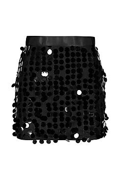 Multi Disc Sequin Mini Skirt