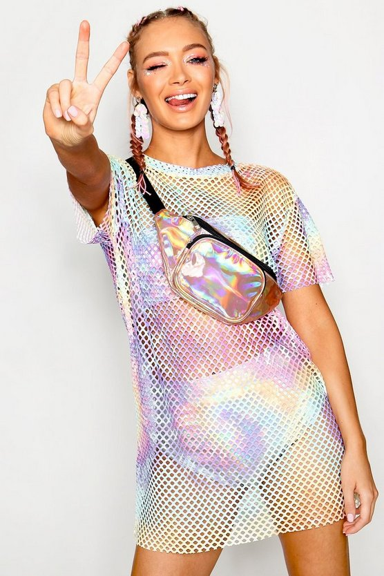 Rosie Pastel Tie Dye Mesh T-shirt Dress