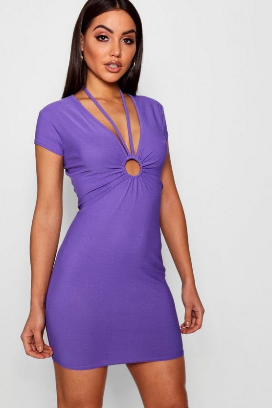 Freya O Ring Strappy Detail Bodycon Dress