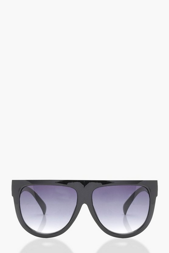 Ivy Flat Top Oversized Sunglasses