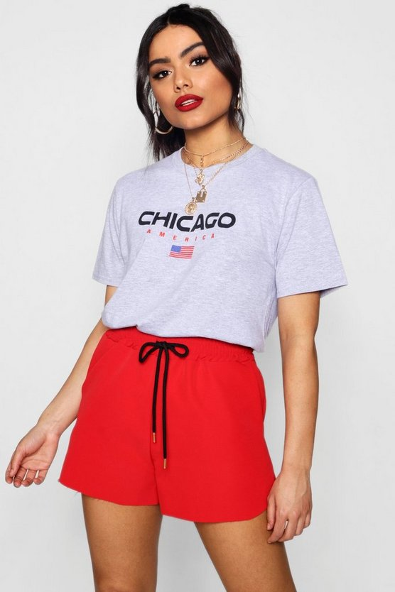 Chicago Slogan Printed Tee