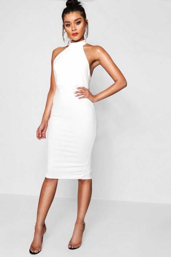 Danielle High Neck Midi Dress