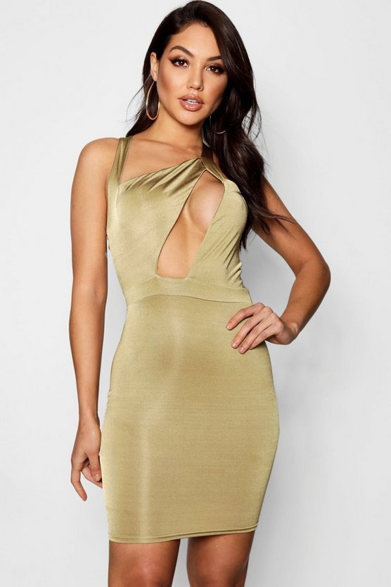 Brie Slinky Cut Out Mini Bodycon Dress