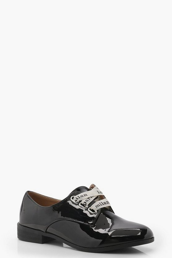 Brooke Slogan Lace Up Brogues