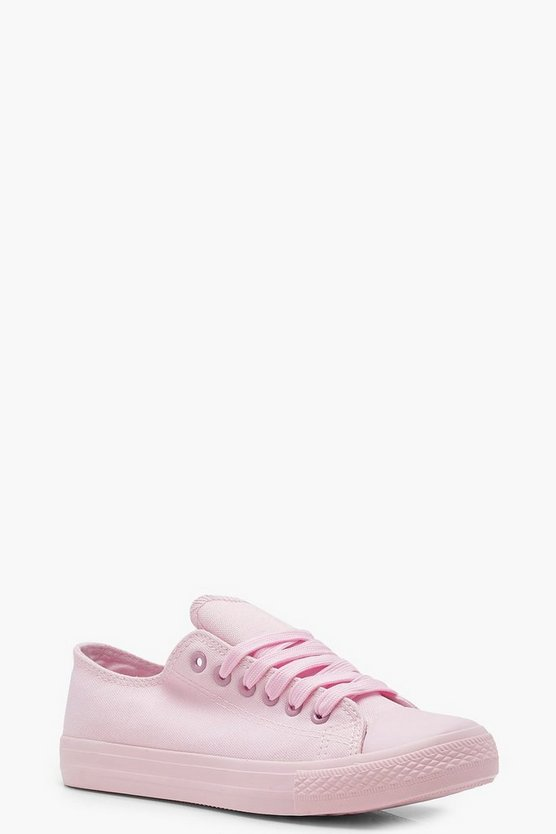 Annabelle Tonal Pastel Lace Up Pumps by Boohoo