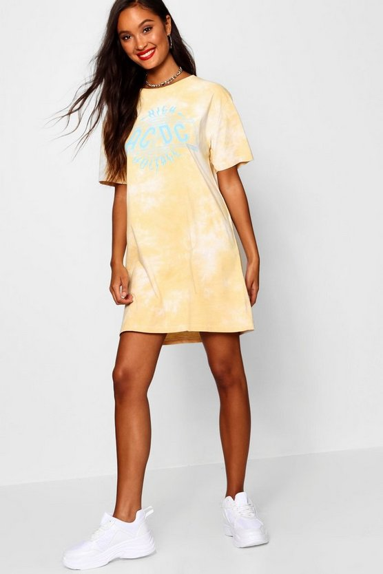 ACDC Tie Dye T-Shirt Dress