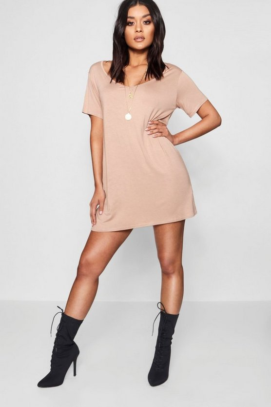 V Neck Tshirt Dress