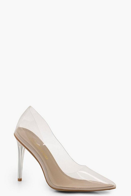 Lexi Clear Pointed Toe Court Shoes