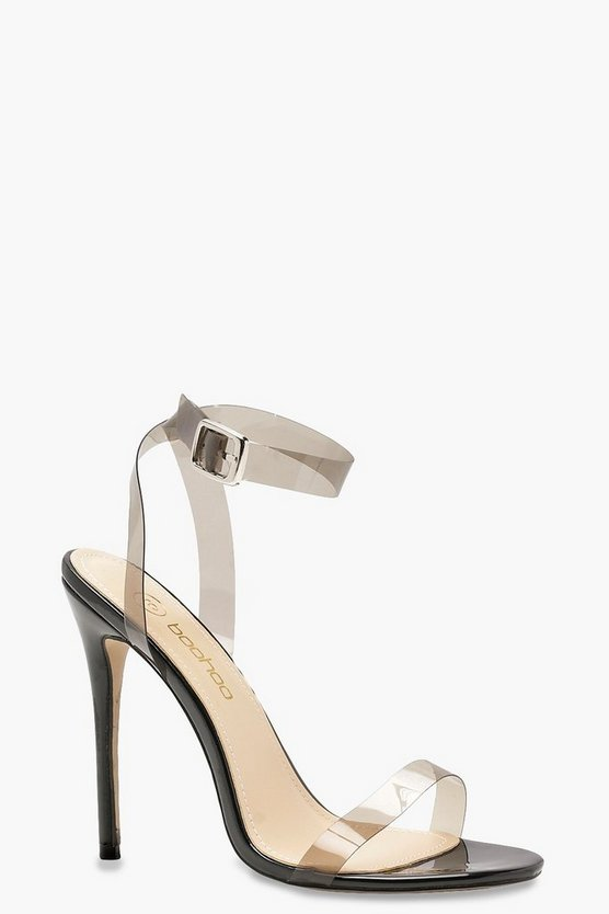 Maisie Clear Strap Barely There Heels