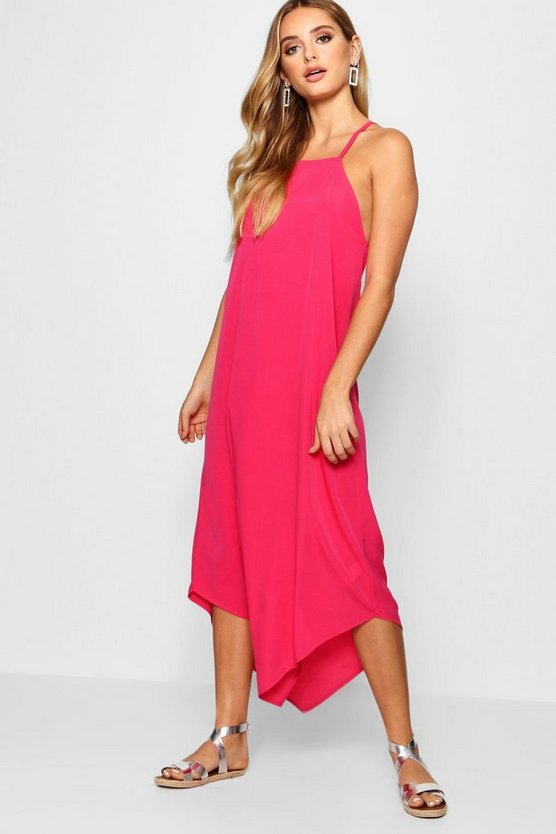 Hannah Dip Hem Cami Maxi Dress