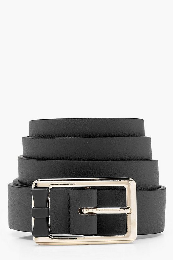 Chunky Square Buckle Boyfriend Belt