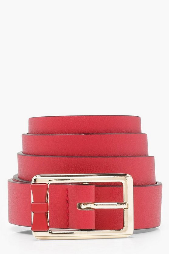 Christina Chunky Square Buckle Boyfriend Belt