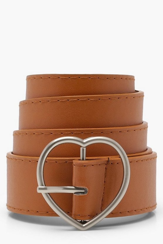 Heart Buckle Boyfriend Belt