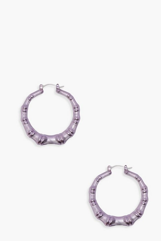 Statement Bamboo Hoop Earrings