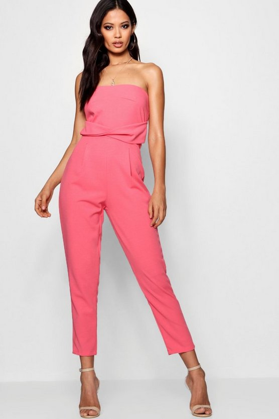 Bella Bandeau Tailored Woven Slim Fit Jumpsuit