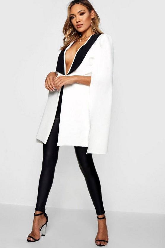 Ellie Tux Tailored Longline Cape