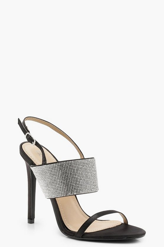 Nicole Diamante Sling Back Sandals