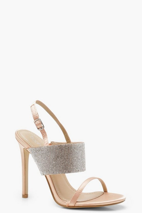 Diamante Sling Back Sandals