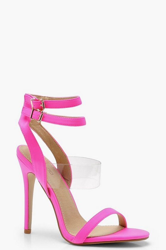Alice Clear Panel Double Buckle Sandals