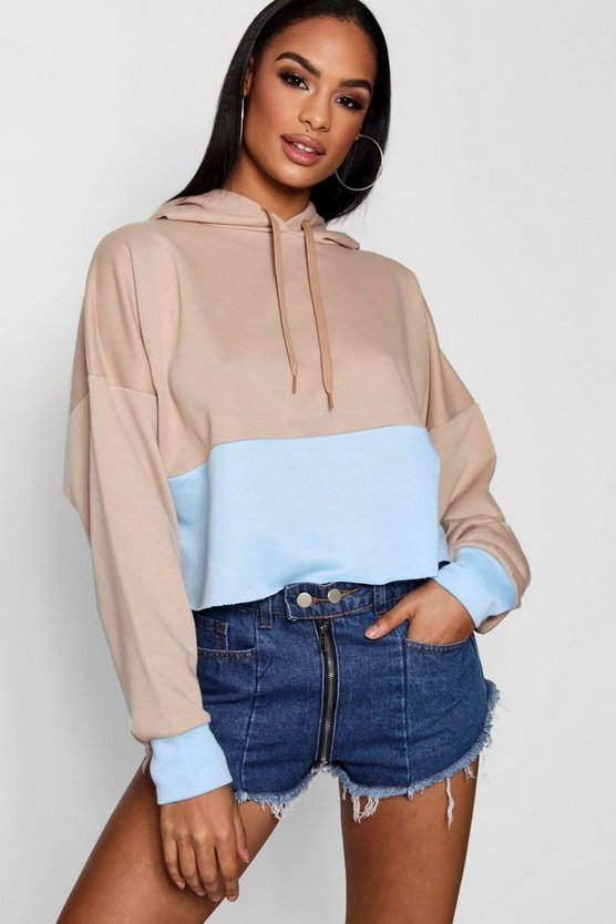 Keira Colour Block Crop Sweat