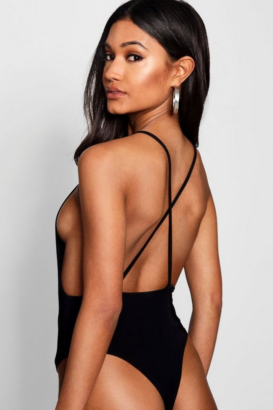 Square Neck Low Back Bodysuit