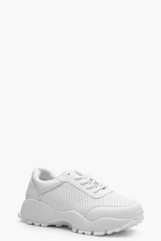 Anna Chunky Sole Lace Up Trainers
