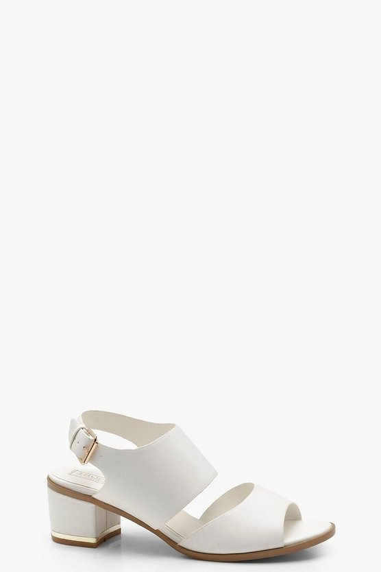 Harriet Peeptoe Block Heel Sandals