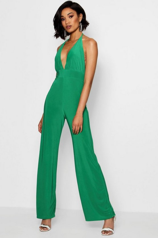 Strappy Deep Plunge Jumpsuit