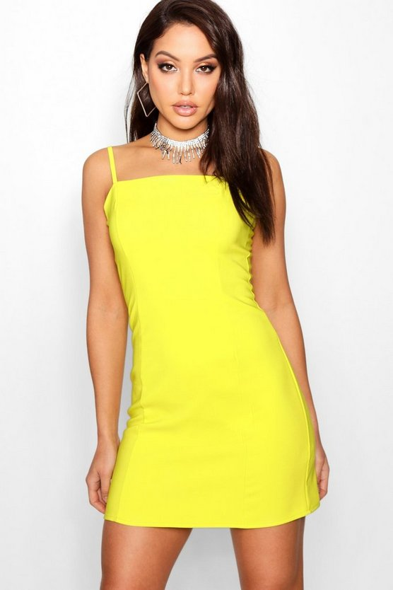 Kirsty Panelled Square Neck Bodycon Dress
