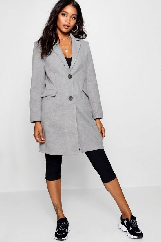 Izzy Collared Wool Look Coat