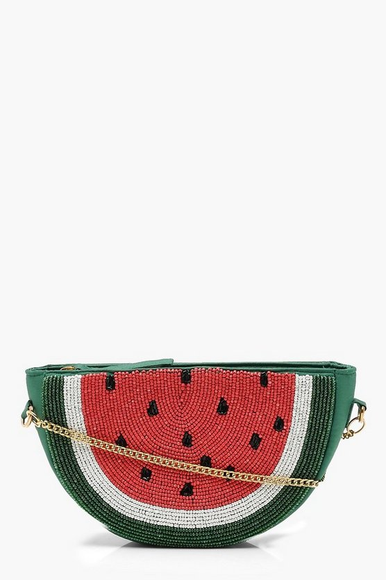 Beaded Watermelon Cross Body