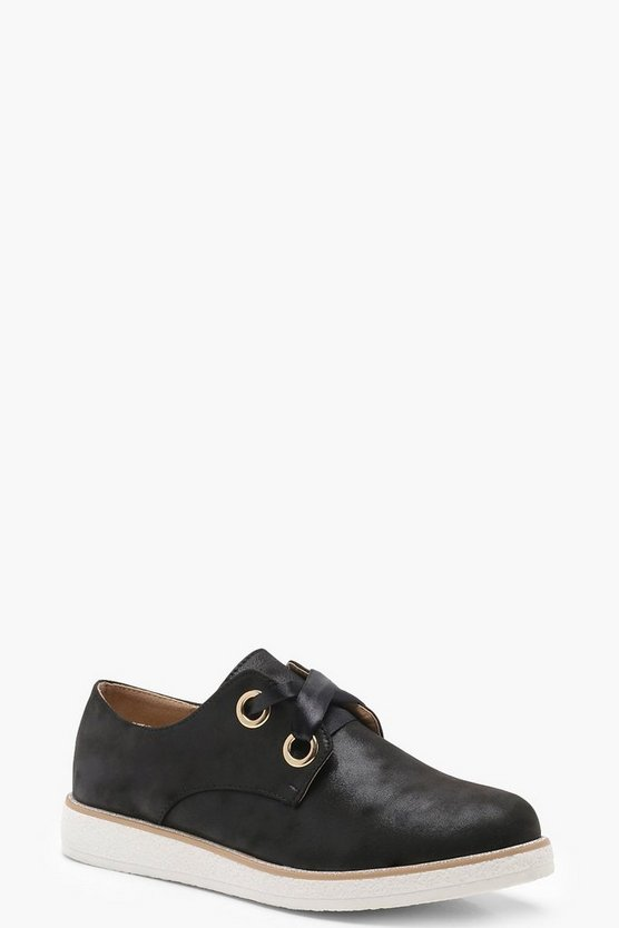 Ribbon Lace Cleated Brogues