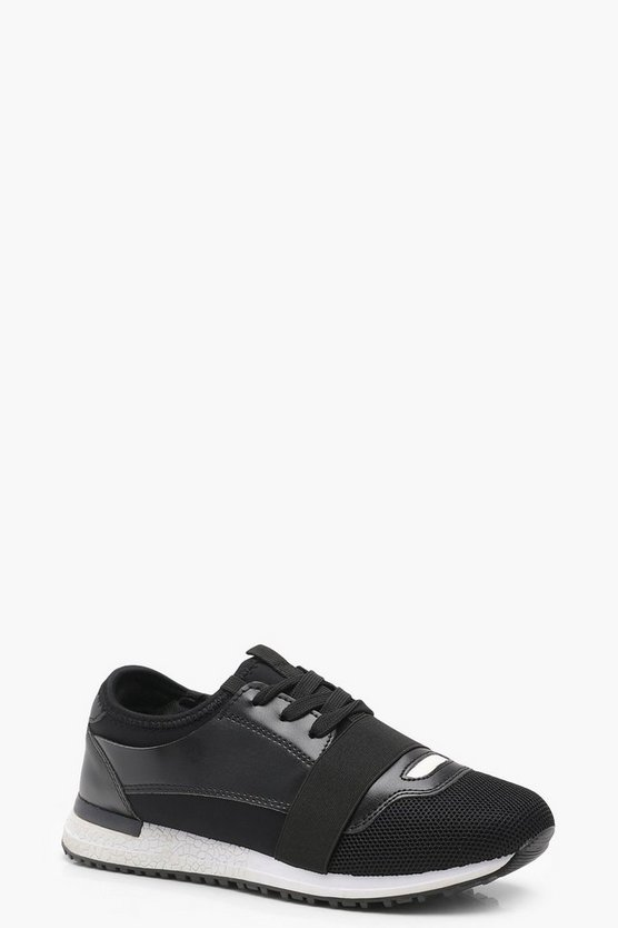 Lucy Elastic Strap Mesh Trainers