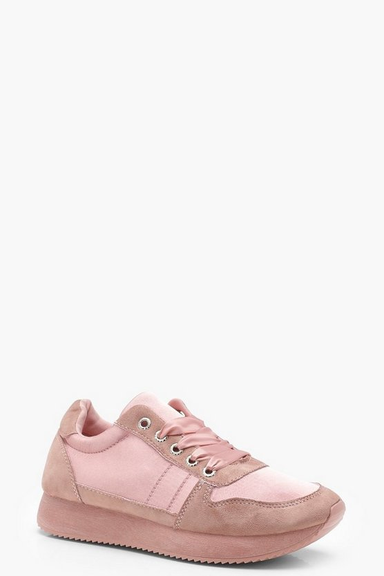 Lola Ribbon Lace Retro Trainers