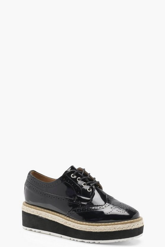 Lauren Espadrille Cleated Brogues