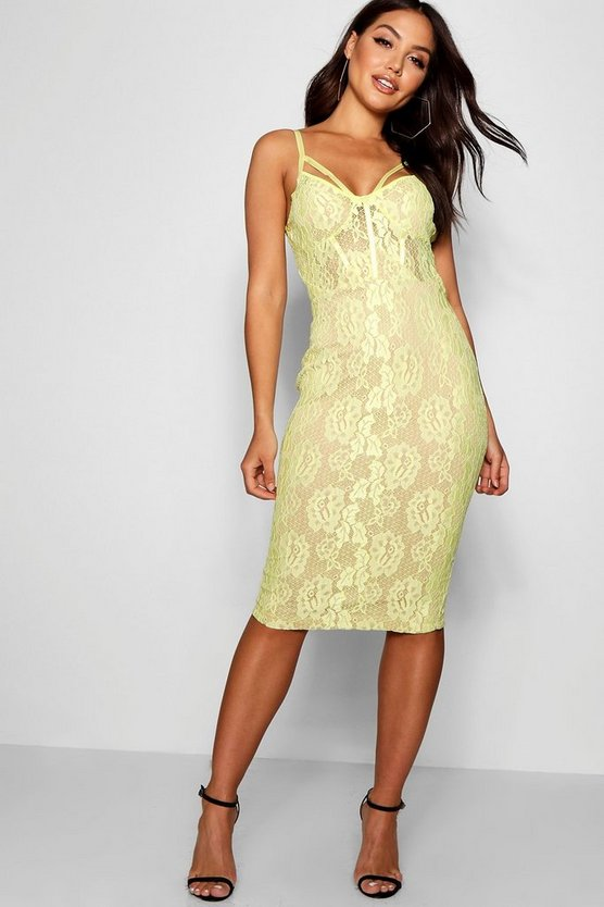 Lace Harness Midi Dress
