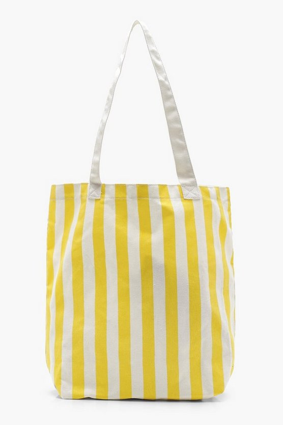 Stripe Canvas Shopper Bag